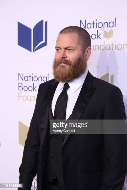 Nick Offerman attends the 69th Annual National Book Awards at Cipriani Wall Street on November 14 2018 in New York City