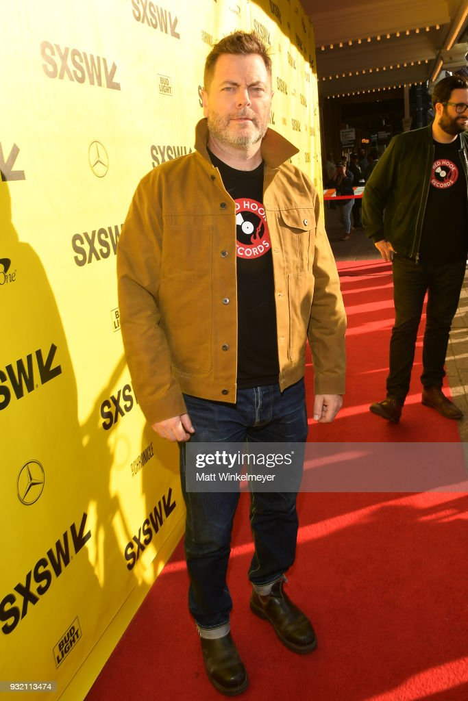 Nick Offerman attends the 'Hearts Beat Loud' Premiere 2018 SXSW Conference and Festivals at Paramount Theatre on March 14, 2018 in Austin, Texas.
