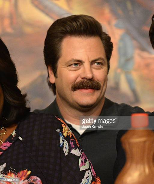 Nick Offerman attends the NBC Parks And Recreation 100th Episode Celebration at CBS Studios Radford on October 16 2013 in Studio City California