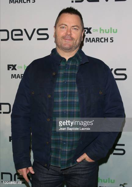 Nick Offerman attends the premiere of FX's Devs at ArcLight Cinemas on March 02 2020 in Hollywood California