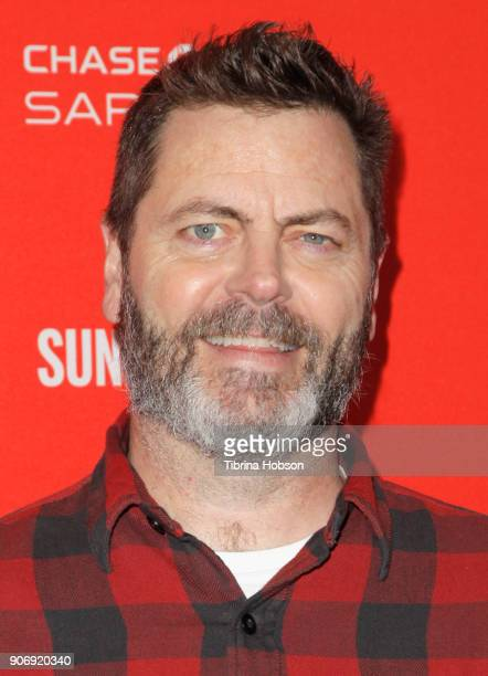 Nick Offerman attends the Volunteer Screening Of 'Hearts Beat Loud' Premiere during the 2018 Sundance Film Festival at Park City Library on January...