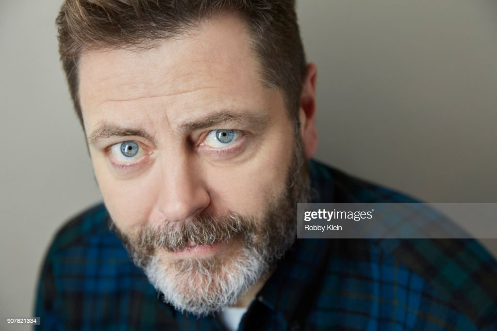 Nick Offerman from the film 'Hearts Beat Loud' poses for a portrait at the YouTube x Getty Images Portrait Studio at 2018 Sundance Film Festival on January 19, 2018 in Park City, Utah.