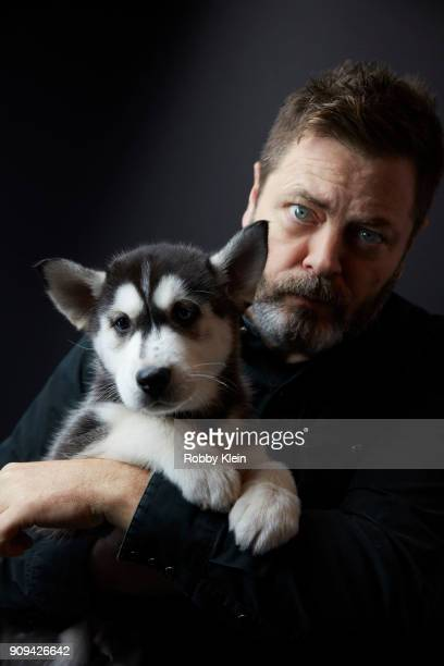 Nick Offerman from the film 'White Fang' poses for a portrait at the YouTube x Getty Images Portrait Studio at 2018 Sundance Film Festival on January...