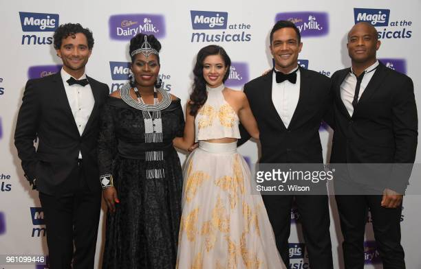 Nick Ofoa Brown Lindeiwie Mkhize Matthew Croke Lauren Chia and Shawn Escoffery attend Magic Radio's event 'Magic At The Musicals' held at Royal...