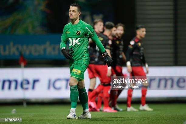 Nick Olij of NAC Breda during the Dutch Keuken Kampioen Divisie match between Excelsior v NAC Breda at the Van Donge & De Roo Stadium on January 31,...