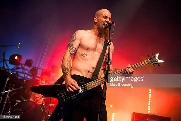 Nick Oliveri of Mondo Generator performs on stage at Hellfest Festival on June 20 2010 in Clisson France