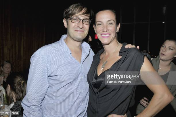 Nick Olney and Sara Rotman attend DAVID LACHAPELLE'S AMERICAN JESUS VIP Dinner at the Highline Room At The Standard on July 13th 2010 in New York City