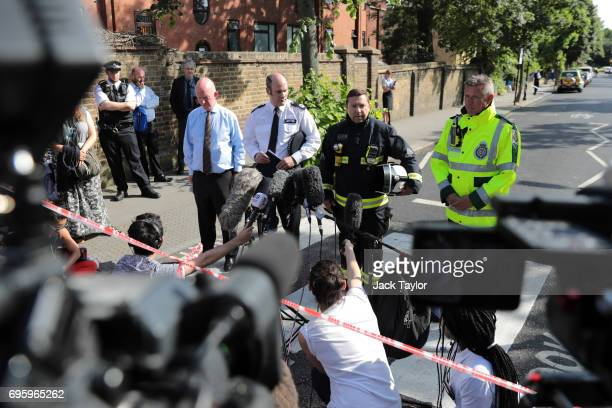Nick Paget Brown leader of the council Commander Stuart Cundy of Met Police Steve Apter of London Fire Brigade and Paul Woodrow director of ops...