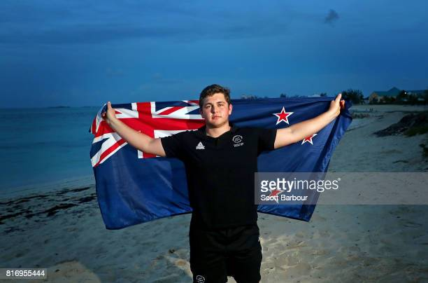Nick Palmer poses after being named New Zealand team flag bearer for the Bahamas 2017 Commonwealth Youth Games during the New Zealand Flag Bearer...