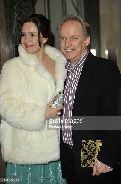 Nick Park and guest attend the Radio Times Covers Party at Claridge's Hotel on January 18 2011 in London England