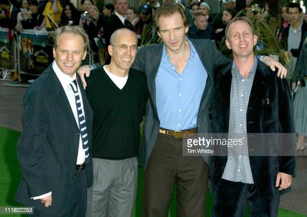 Nick Park Jeffey Katzenberg Ralph Fiennes and Steve Box