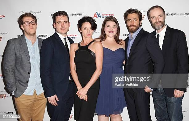 Nick Payne Michael Longhurst Michelle Gomez Annie Funke Jake Gyllenhaal and Brian F O'Byrne attending the After Party for Opening Night Performance...