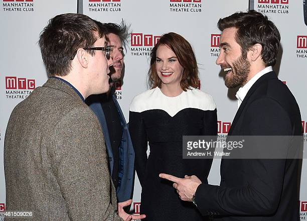 Nick Payne Michael Longhurst Ruth Wilson and Jake Gyllenhaal attend the Constellations Broadway opening night after party at Urbo NYC on January 13...