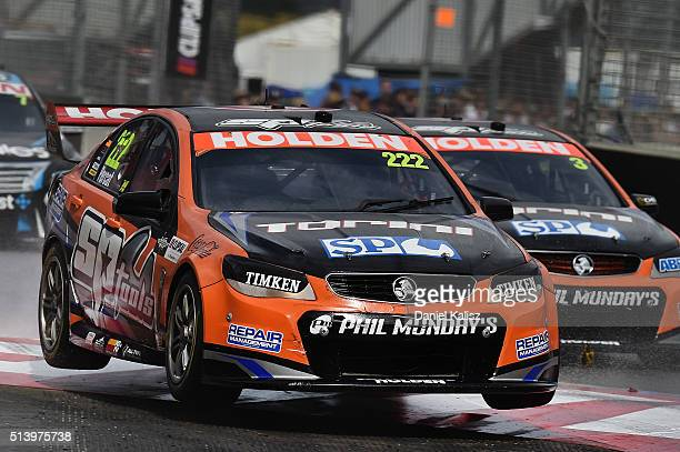 Nick Percat drives the Lucas Dumbrell Motorsport Commodore VF during race 3 for the V8 Supercars Clipsal 500 at Adelaide Street Circuit on March 6...