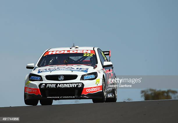 Nick Percat drives the Lucas Dumbrell Motorsport Holden during practice for the Bathurst 1000 which is race 25 of the V8 Supercars Championship at...