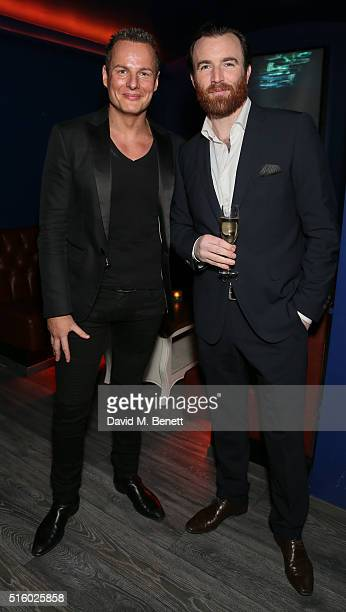 Nick Perks and James Balfour attend the Everest Spring Climb Fundraiser hosted by Noelle Reno and Nick Perks at Beyond Lounge on March 16 2016 in...