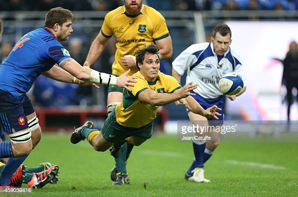 Nick Phipps of Australia in action during the international friendly match between France and Australia at Stade de France on November 15 2014 in...