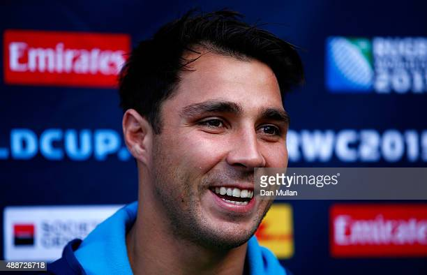 Nick Phipps of Australia speask to the media during an Australia media session at the MacDonald Bath Spa Hotel on September 17 2015 in Bath United...
