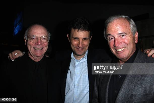 Nick Pileggi David Remnick and Ken Auletta attend THE NEW YORKER FESTIVAL PARTY at Cooper Square Hotel on October 17 2009 in New York City
