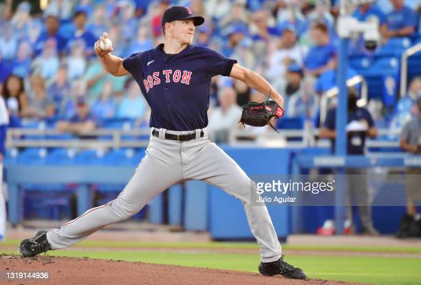 Nick Pivetta of the Boston Red Sox delivers a pitch against the Toronto Blue Jays in the first inning at TD Ballpark on May 20, 2021 in Dunedin,...