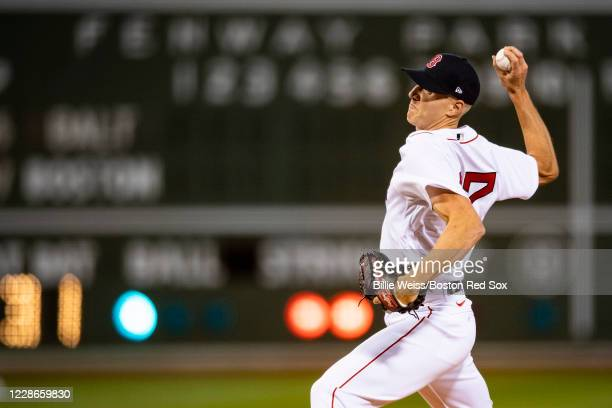Nick Pivetta of the Boston Red Sox delivers during the first inning of a game against the Baltimore Orioles on September 22, 2020 at Fenway Park in...