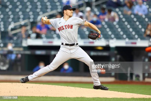 Nick Pivetta of the Boston Red Sox in action against the New York Mets at Citi Field on April 28, 2021 in New York City. Boston Red Sox defeated the...