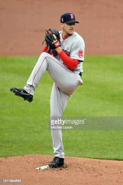 Nick Pivetta of the Boston Red Sox pitches during a baseball game against the Baltimore Orioles at Oriole Park at Camden Yards on May 9, 2021 in...