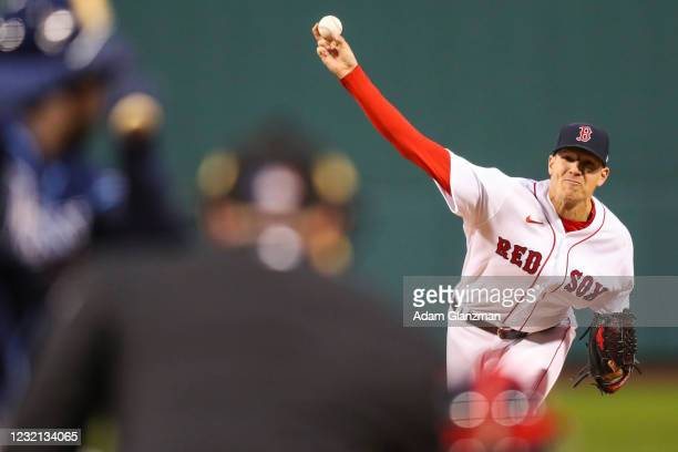 Nick Pivetta of the Boston Red Sox pitches in the first inning of a game against the Tampa Bay Rays at Fenway Park on April 5, 2021 in Boston,...