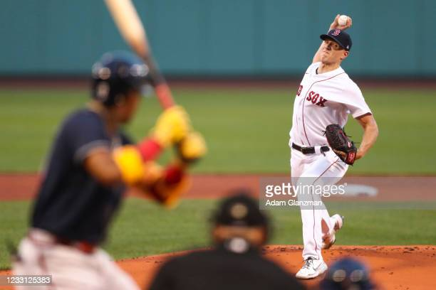 Nick Pivetta of the Boston Red Sox pitches in the first inning of a game against the Atlanta Braves at Fenway Park on May 26, 2021 in Boston,...