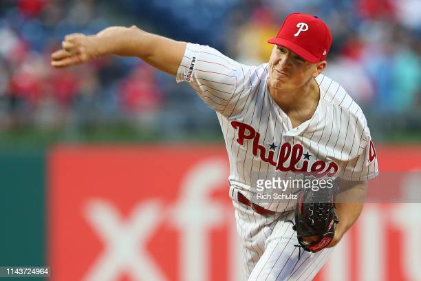Nick Pivetta of the Philadelphia Phillies in action against the New York Mets during a game at Citizens Bank Park on April 16 2019 in Philadelphia...