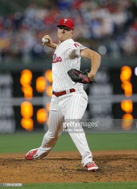 Nick Pivetta of the Philadelphia Phillies throws a pitch in the ninth inning during a game against the Chicago White Sox at Citizens Bank Park on...
