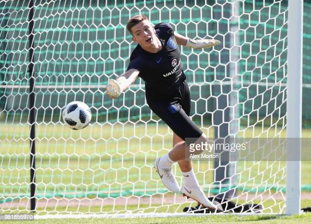 Nick Pope in action during the England training session on June 23 2018 in Saint Petersburg Russia
