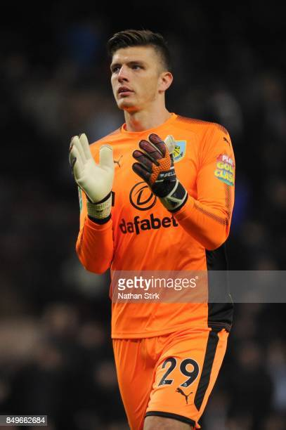 Nick Pope of Burnley claps the fans during the Carabao Cup Third Round match between Burnley and Leeds United at Turf Moor on September 19 2017 in...