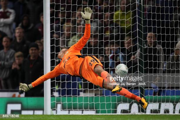 Nick Pope of Burnley conceded the first penalty during the Carabao Cup Third Round match between Burnley and Leeds United at Turf Moor on September...