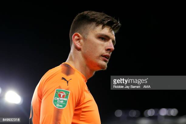 Nick Pope of Burnley during the Carabao Cup Third Round match between Burnley and Leeds United at Turf Moor on September 19 2017 in Burnley England