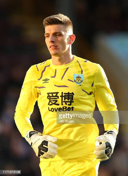 Nick Pope of Burnley during the Premier League match between Burnley FC and Liverpool FC at Turf Moor on August 31 2019 in Burnley United Kingdom