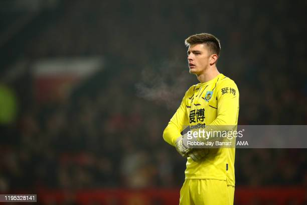 Nick Pope of Burnley during the Premier League match between Manchester United and Burnley FC at Old Trafford on January 22 2020 in Manchester United...