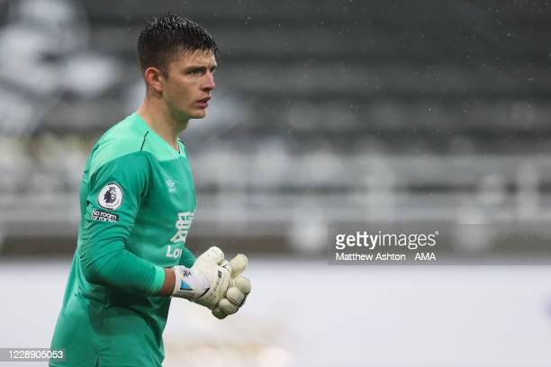 Nick Pope of Burnley during the Premier League match between Newcastle United and Burnley at St James Park on October 3 2020 in Newcastle upon Tyne...