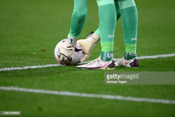 Nick Pope of Burnley in action during the Premier League match between Burnley and Tottenham Hotspur at Turf Moor on October 26 2020 in Burnley...