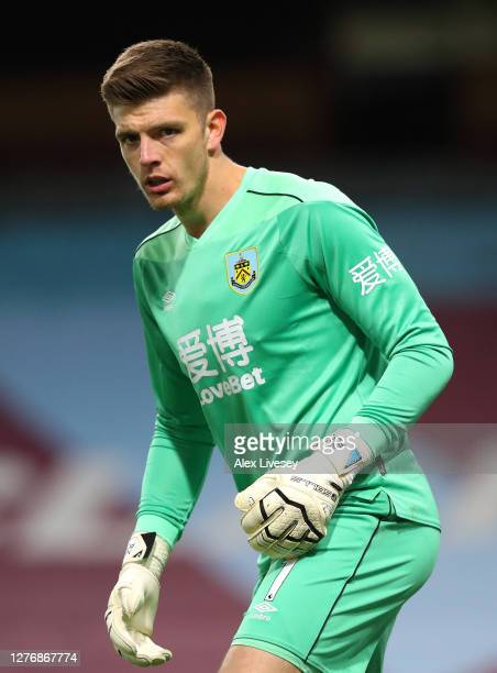 Nick Pope of Burnley looks on during the Premier League match between Burnley and Southampton at Turf Moor on September 26 2020 in Burnley England...