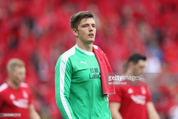 Nick Pope of Burnley looks on during the UEFA Europa League Second Qualifying Round 1st Leg match between Aberdeen and Burnley at Pittodrie Stadium...