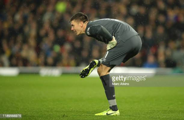 Nick Pope of Burnley reacts during the Premier League match between Watford FC and Burnley FC at Vicarage Road on November 23 2019 in Watford United...