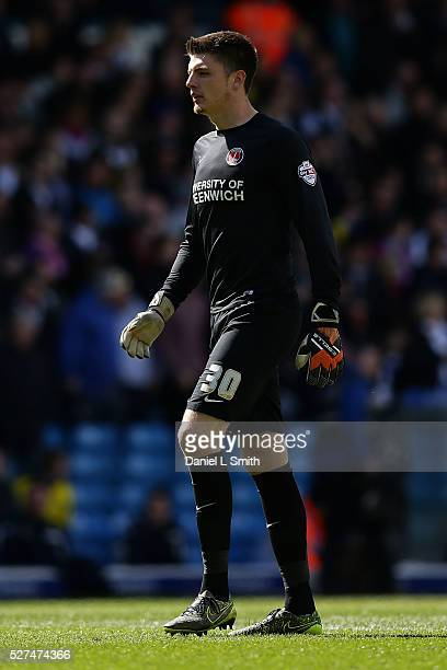 Nick Pope of Charlton Athletic FC during the Sky Bet Championship match between Leeds United and Charlton Athletic at Elland Road on April 30 2016 in...