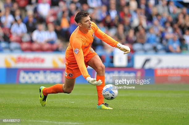 Nick Pope of Charlton during Sky Bet Championship match between Huddersfield Town and Charlton Athletic at Galpharm Stadium on August 23 2014 in...