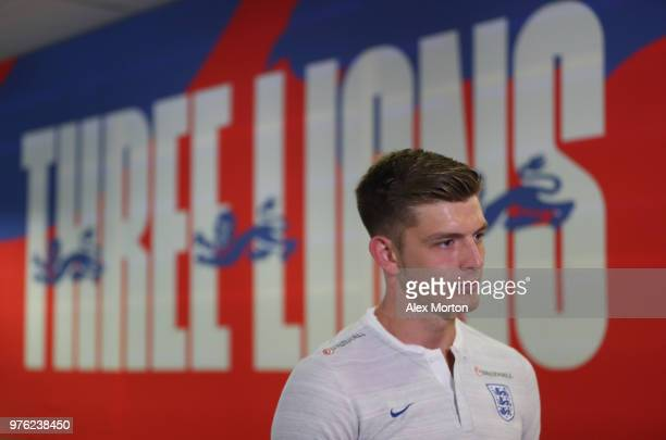 Nick Pope of England during the England media access at the Cronwell Park hotel on June 16 2018 in Saint Petersburg Russia