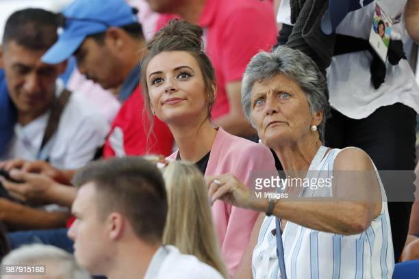 Nick Pope's partner Shannon Horlock looks on during the 2018 FIFA World Cup Russia group G match between England and Belgium at the Kalingrad stadium...