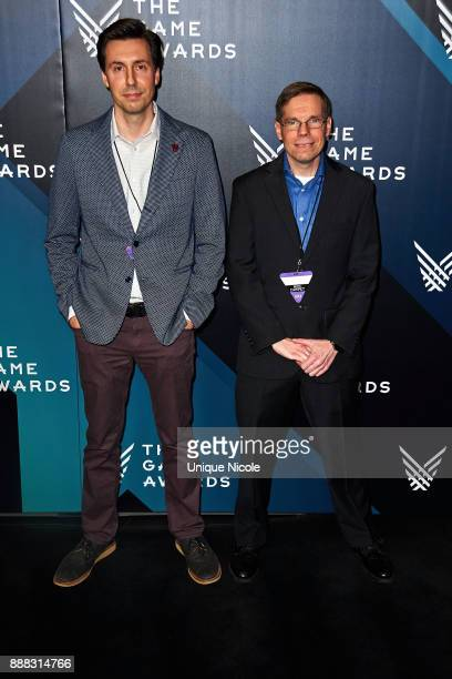 Nick Popovich and Mike Thomas creators of Slime Rancher and nominees of the 'Best Debut Indie Game Presented by Schick Hydro' award attend The Game...