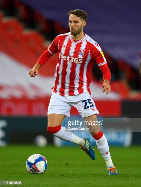 Nick Powell of Stoke City during the Sky Bet Championship match between Stoke City and Barnsley at Bet365 Stadium on October 21 2020 in Stoke on...
