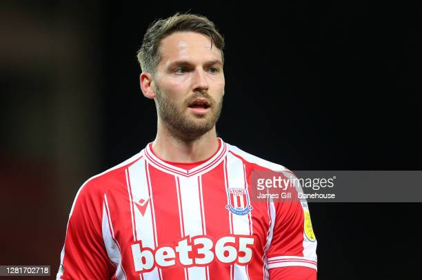 Nick Powell of Stoke City looks on during the Sky Bet Championship match between Stoke City and Barnsley at Bet365 Stadium on October 21 2020 in...