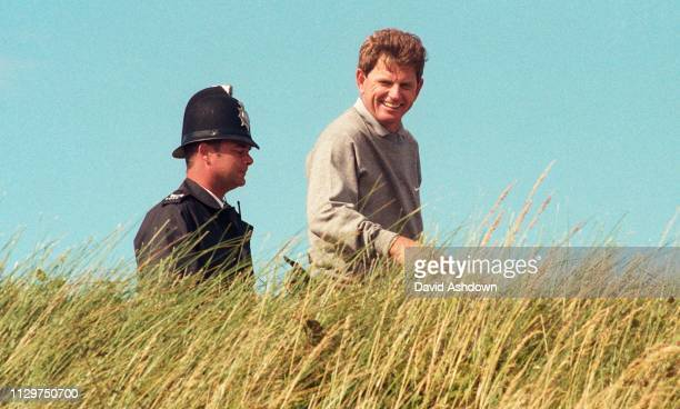 Nick Price and policeman during the 127th British Open Golf at Royal Birkdale GC in Southport 16th-19th July 1998.